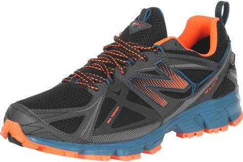 black new balance running shoes new balance 174 mt610 gtx trail running shoes black blue orange