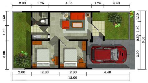 desain layout rumah type 54 contoh gambar denah rumah minimalis type 36 terbaru