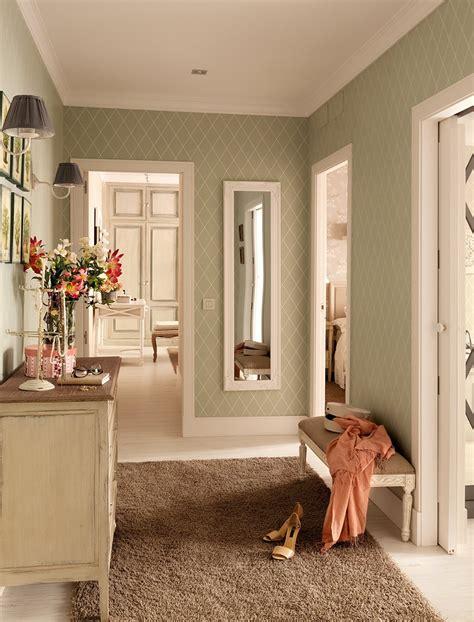 casa de madrid reformada  decorada  papel pintado
