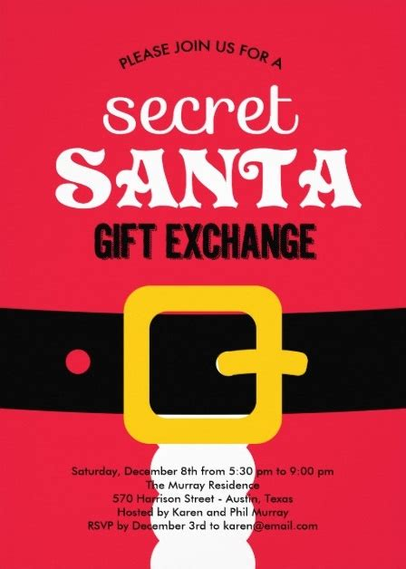 secret santa email template secret santa invitation template invitation template