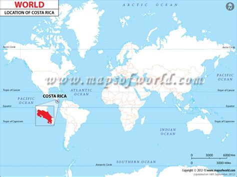 where is costa rica on a world map where is costa rica location of costa rica