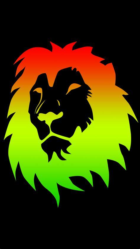 rasta color lion    hd phone wallpaper