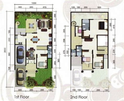 layout rumah type 100 modern on pinterest