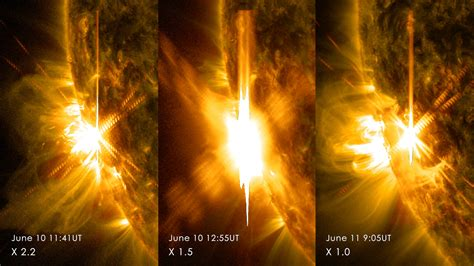 Solar Flare Lights And Another One Third Solar Flare In 24 Hours