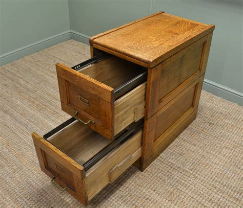 Unusual Edwardian Oak Antique Filing Cabinet   Antiques World