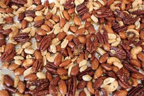 Oven Baked Nuts rosemary garlic roasted nuts