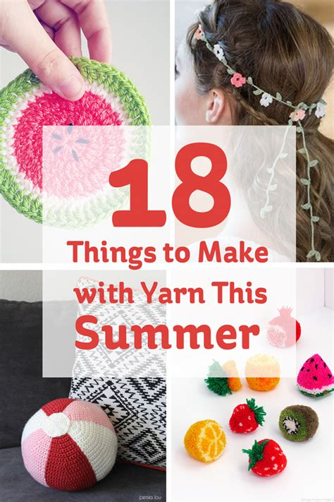 things to make with 18 things to make with yarn this summer hobbycraft