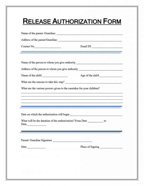 release form template release form template clergy coalition