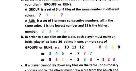 printable rummikub directions rummikub instructions rummikub pinterest best diy