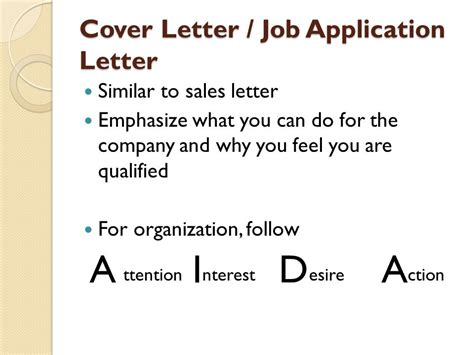 Application Letter Ppt Writing A Cover Letter Application Letter Ppt