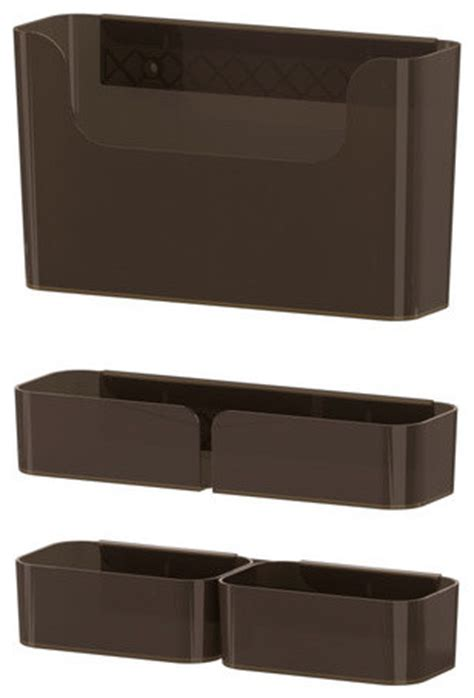 Ikea Desk Accessories Pluggis 7 Container Set With Rail Modern Desk Accessories By Ikea