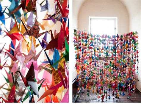 1000 Origami Cranes - wedding decoration on paper cranes origami