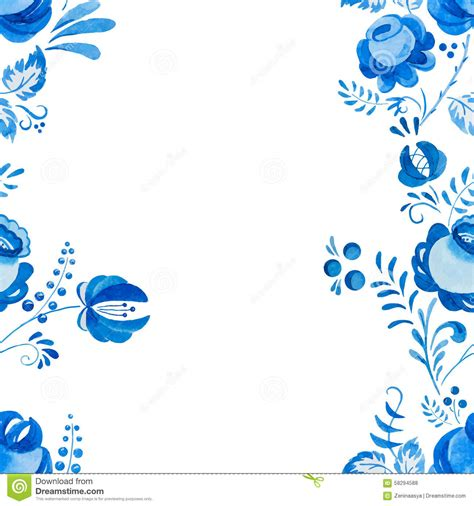 russian pattern vector russian gzhel pattern stock vector image 58294588