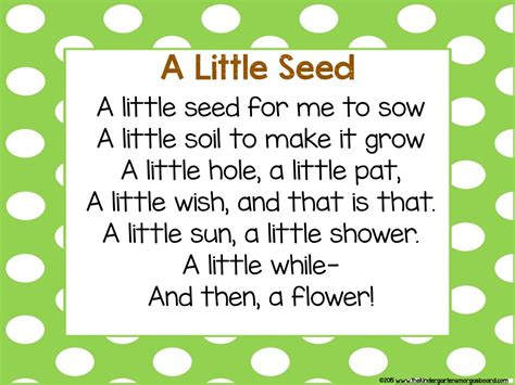 search poem plants and learning