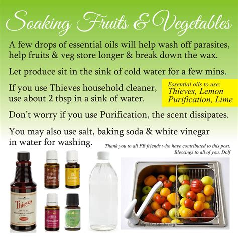fruit essential oils wash fruits and vegetables living essential oils