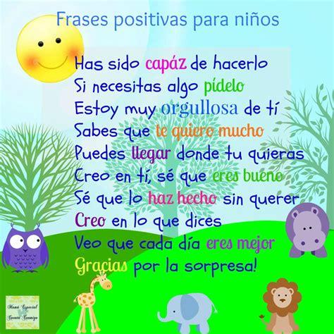 imágenes y frases de energía positiva frases positivas para ni 241 os motivaci 243 n nicoysuspines
