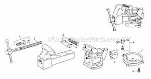 bench vise replacement parts ridgid 6000r parts list and diagram ereplacementparts