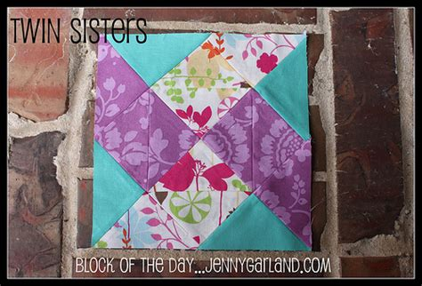Quilt Block of the Day: Twin Sisters   Flickr   Photo Sharing!