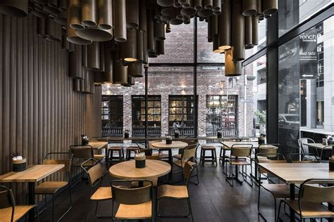 interior design cafe melbourne techn 233 makes creative use of cardboard tubes at grill d s