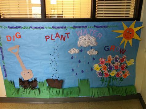 spring  pre  bulletin board ideas  school