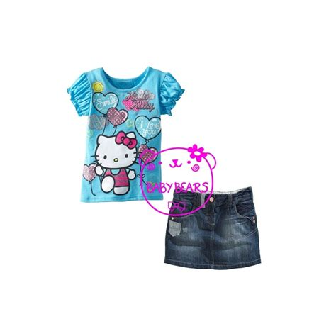 hello kitty wallpaper biru setelan hello kitty jeans biru