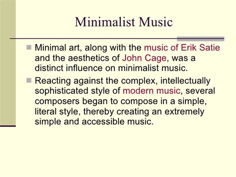 how to compose a minimalist minimalism