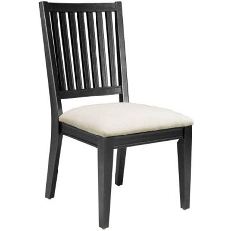 Martha Stewart Dining Chairs Martha Stewart Living Larsson Carbon Black Dining Side Chair 0128000210 The Home Depot