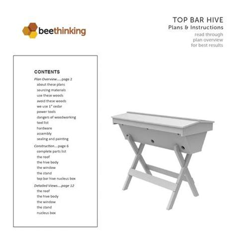 Top Bar Hive Plan by Top Bar Hive Plans Bee Thinking