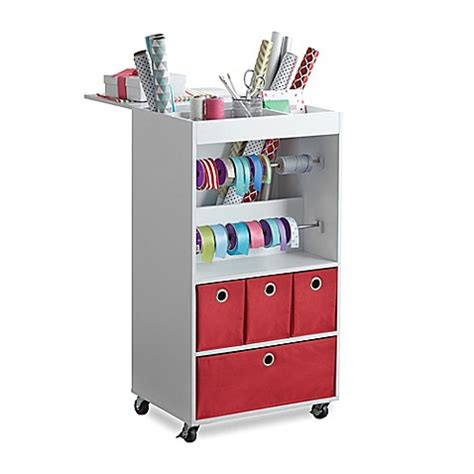 bed bath and beyond gift wrapping real simple 174 gift wrap cart bed bath beyond