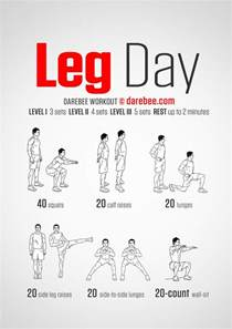 leg day darebee workout exercises a