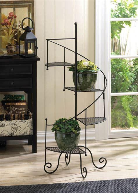 spiral staircase  tier shelf flower pot planter shelves