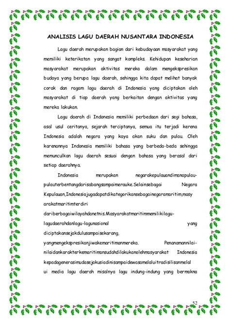 bebilin yadu yaki lagu daerah di indonesia