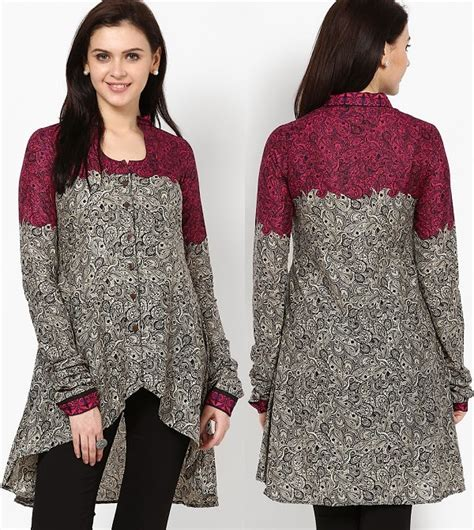 jacket pattern for kurti 10 best floral print cotton kurtis looksgud in