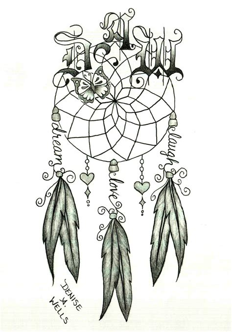 unique dreamcatcher tattoo designs catcher by a catcher