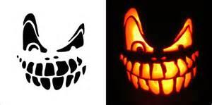 Halloween Pumpkin Faces Templates - halloween scary pumpkin carving stencils free vector in adobe illustrator ai ai vector