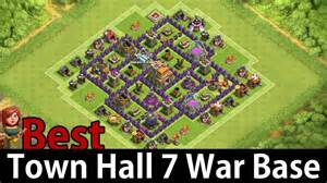 Clash of clans town hall 7 best war base defense youtube