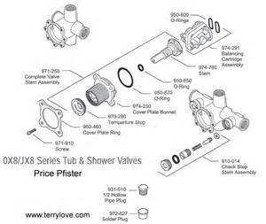 price pfister shower replacement parts need to id tub shower valve plz price pfister 0x8 310a