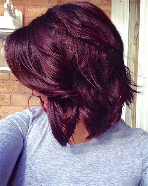 cute hair color ideas for winter cute red violet hair color for medium hair ideas μαλλιά