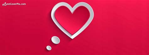 love stylish  super cool heart shape facebook cover photo banner