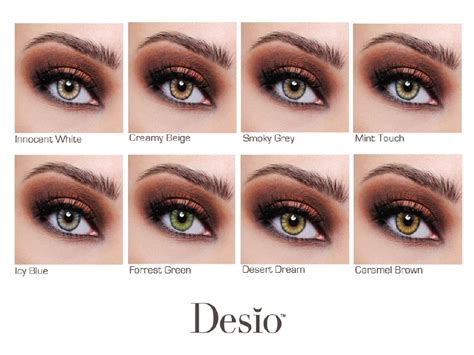 contacts colors desio color contacts chart contacts specifically made to