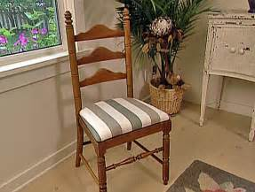 How To Upholster A Dining Room Chair How To Reupholster A Seat Pad How Tos Diy