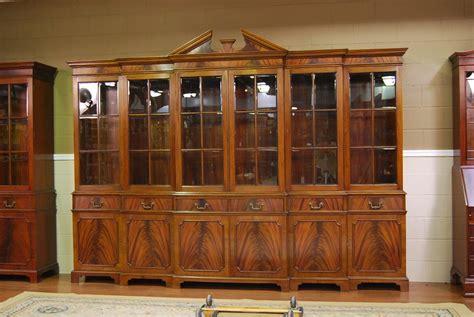 large mahogany china cabinet  door breakfront ebay