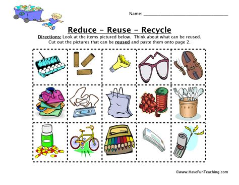 Recycling Worksheets by 502 Bad Gateway