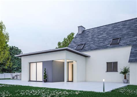 Facade Maison Contemporaine by Extension De Maison Contemporaine Pour Agrandir Sa Maison