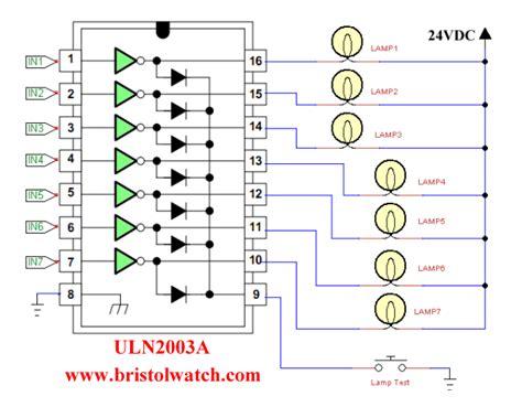 uln2003a darlington transistor array circuit exles