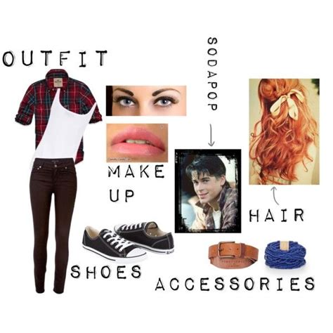 without its dressing style costumes makeup and its jewellery sodapop curtis outfit exept without the blue bracelet