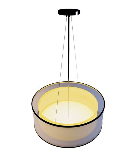 yellow and white drum pendant 3d model 3ds max files free