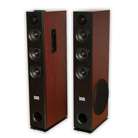 acoustic audio tsi550 bluetooth powered floorstanding