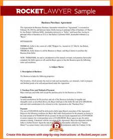 Business Purchase Agreement Template business agreement sample sample business purchase