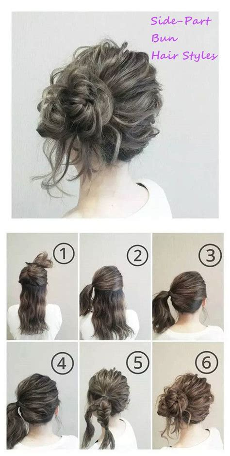 beautiful buns hairstyles dailymotion side part bun hair styles hairstyles pinterest
